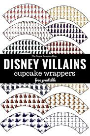 free printable halloween cupcake toppers disney villains cupcake wrappers