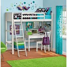 full loft bed with desk white white bunk beds for girls white loft