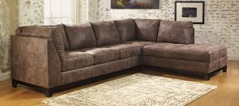 Ashley Furniture Leather Sectional With Chaise Buy Ashley Furniture 9770066 9770017 Damis Mocha Raf Corner Chaise