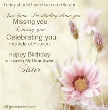 free birthday cards for sister in heaven to share on facebook