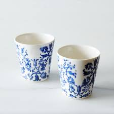 floral espresso cups set of 2 small ceramic cups mugs