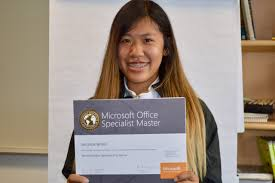 foster u0027s melinda wong is a certified microsoft office specialist