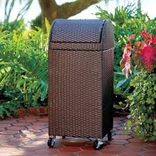 resin wicker outdoor trash can what u0027s it worth