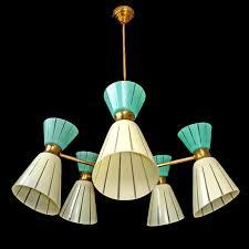 Mid Century Chandeliers Rare 10 Light Vintage 1960 Mid Century Italian Modernist Stilnovo