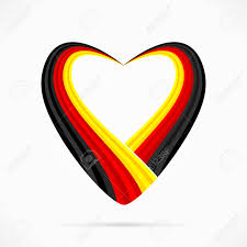Black Red And Yellow Flag Abstract Black Red Yellow Heart Ribbon Flag Royalty Free Cliparts