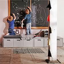 Kids Storage Bench Industrial Kids Locker Storage Bench By Cuckooland