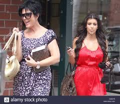 kim kardashian and her mother kris jenner leaving a nail salon in