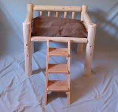 luxury log dog beds and other log furniture custom crafted pet