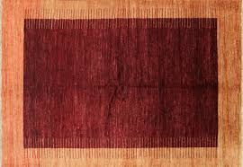 6 X 8 Area Rugs Knotted 6 X8 Maroon Orange Border Gabbeh Wool