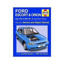 haynes workshop manual for ford escort u0026 orion