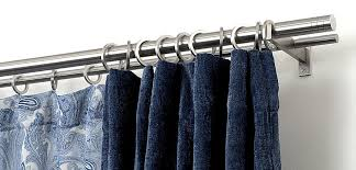 Double Rod Curtain Hardware Mira Stainless Steel Curtain Rods Custom Made Stainless Steel Or