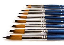 amazon com the art chest round artist paint brushes for acrylic