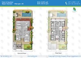 floor plan of hidd al saadiyat saadiyat island beach mansion type 3c 9976 sqft