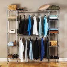 Shelf With Clothes Rod Ideas Organizer Bins Walmart Clothes Rack Walmart Closet Storage