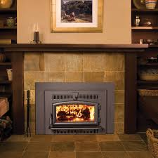 wood burning fireplace insert with gas starter adding wood