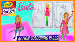barbie comes alive in 3d color alive coloring book action