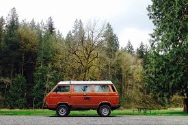 volkswagen camper trailer vw camper van rental for seattle and the pacific northwestblack