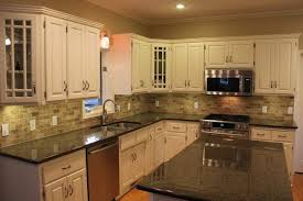 Kitchen Backsplash Ideas On A Budget by Granite Backsplash With Tile Above Kitchen Backsplash Gallery