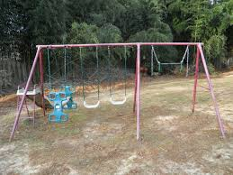 do you have an unused swing set in the backyard think outside