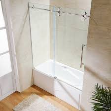 Sliding Glass Shower Doors Over Tub by Designs Charming Bathtub Glass Doors Installation 34 Classy
