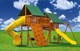 fantasy 1 swing set with tube slide eastern jungle gym