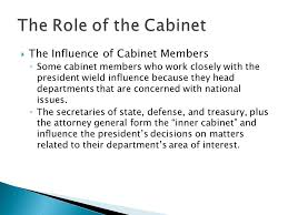 The Cabinet Members Chapter 8 The Presidency Ppt Video Online Download