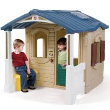 house with porch naturally playful front porch playhouse kids playhouse step2