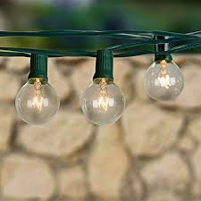 Bulb String Lights Globe String Lights With 25 G40 Bulbs Taotronics Connectable