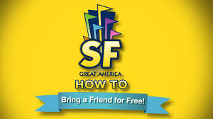 Six Flags Benefits How To Bring A Friend Free At Six Flags Great America Youtube