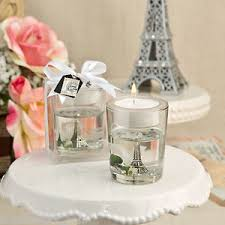 wedding favor candles 1 eiffel tower gel candle wedding favor bridal shower favors