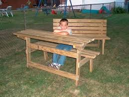 picnic table converts to bench convertible park bench picnic table joe cumbo lumberjocks with