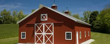 Red Barn In Loxahatchee Fl Suburban Building Profile Use Pole Barn Garage With Crossbuck