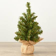 small artificial pine tree with burlap base trees and toppers