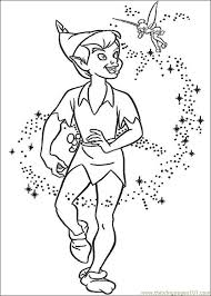 peter pan coloring free tinkerbell coloring pages