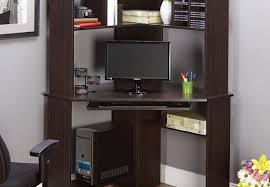 Secretary Desk Black by Desk Black Wooden Computer Desk With Four Hutch Also Storage And