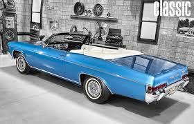 1966 blue chevy impala ss convertible hd wallpaper chevy