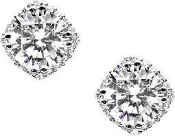 stud diamond earrings tacori 2 00ct tw h si2 diamond blooming stud earrings fe64365 b