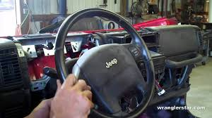jeep liberty steering wheel how to remove jeep wrangler airbag youtube