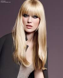 long hairstyle with bangs and layers around the face