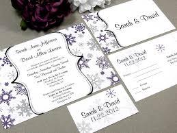 Snowflake Wedding Invitations Winter Snowflake Wedding Invitation Set By Runkpock Designs