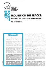 Shared History Council Of Europe Trouble On The Tracks Averting The Turkey Eu Wreck