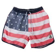 Mens Flag Shorts Rowdy Gentleman Rowdy Gentleman Faded American Flag Swim Trunks