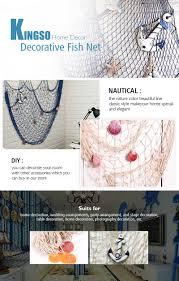 amazon com kingso mediterranean style decorative fish net with kingso home decor