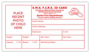 e m s f i r e child id card child id cards for ems