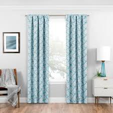 Teal Blackout Curtains Solaris Blackout Blackout Liner White Polyester Rod Pocket Curtain