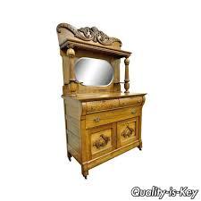 Antique Server Buffet by Details About Antique Victorian Golden Quartered Oak Carved Mirror