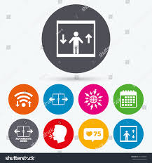 wifi like counter calendar icons automatic stock vector 417468262