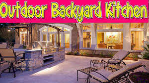 how to design an outdoor backyard kitchen youtube