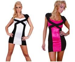 online shop new white pink black combination mini dress