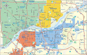 Illinois Map Of Cities by Quad Cities Map Quad Cities U2022 Mappery
